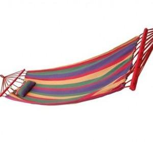 尚龙 SL-S06Z 带杆+枕头彩条帆布吊床(含绑绳及帆布包)