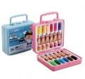 得力(DeLi)7051-12色塑盒装水彩笔 12支/盒