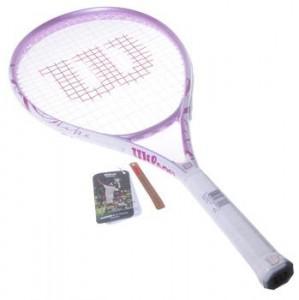威尔逊网球拍 正品初学首选女士网拍 Wilson太极进攻 已穿线