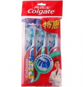 高露洁三效优护牙刷三支装